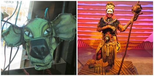 Hyena mask and Rafiki costume