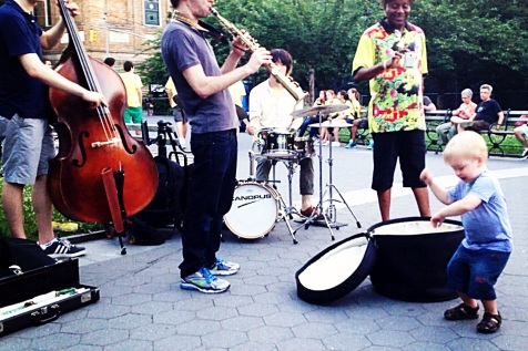 Jazz music in Washington Square Park