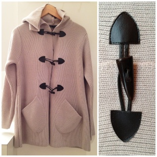 Katherine Barclay- Malone toggle front hooded cardigan