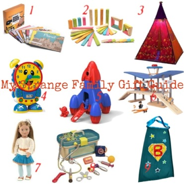 My Strange Family Toddler Holiday Gift Guide