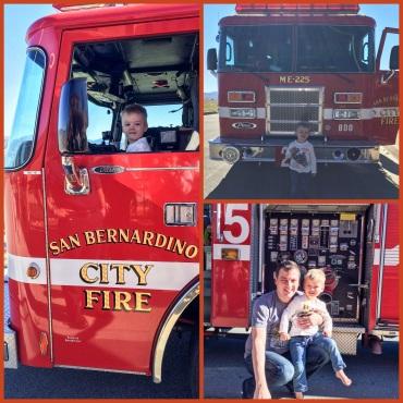 Firetruck in San Bernardino