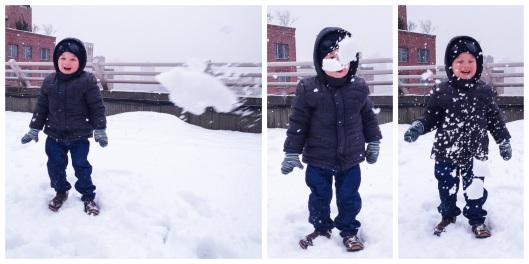 My Strange Family Snowball Fight