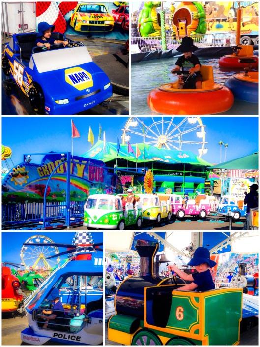 Kiddie rides at the fair