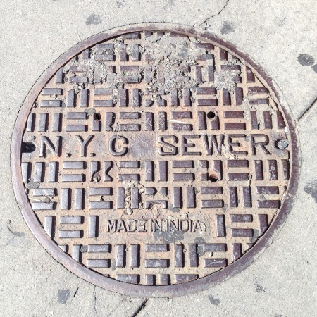 NYC Manhole cover made in India