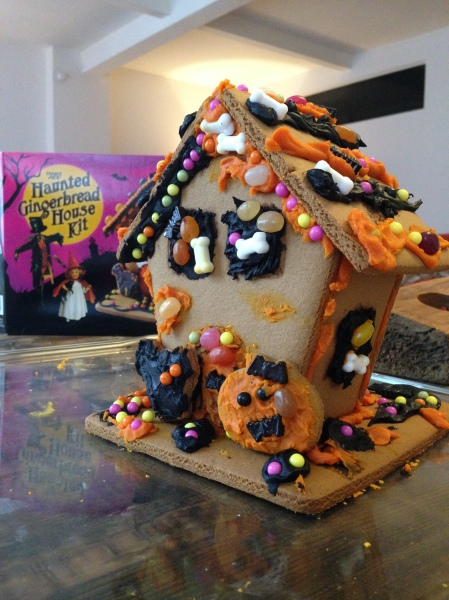 Finished Haunted Gingerbread House