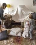 Pillow fort building time