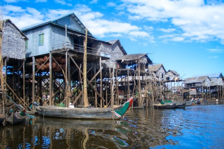 Floating village along the Mekong Cambodia