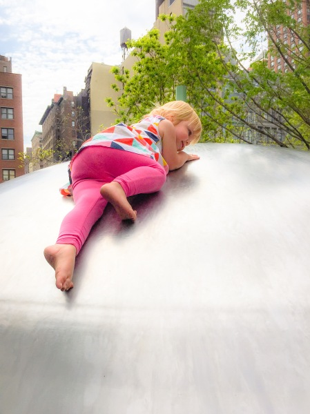Climbing the dome Union Square Park