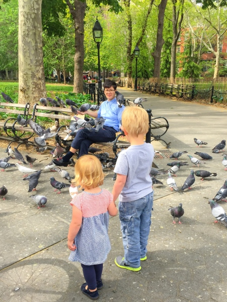 Feed the birds Washington Square Park