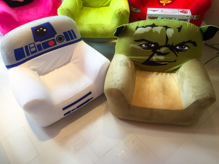 Star Wars kid chairs from Delta Children's