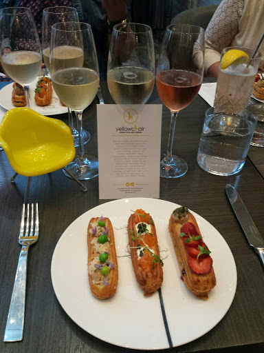 Yellow Chair Champagne and Eclairs event