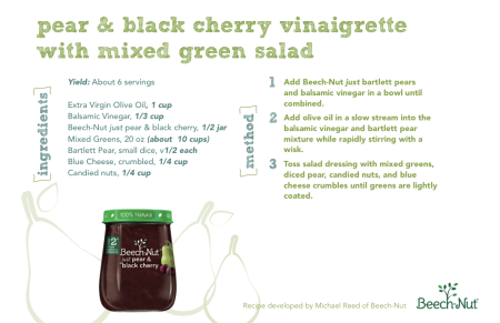 Pear and black cherry vinaigrette