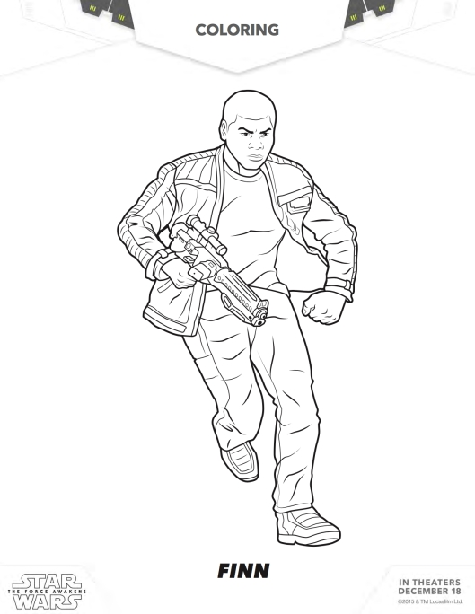 Star War coloring page Finn