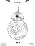 Star Wars coloring page BB8