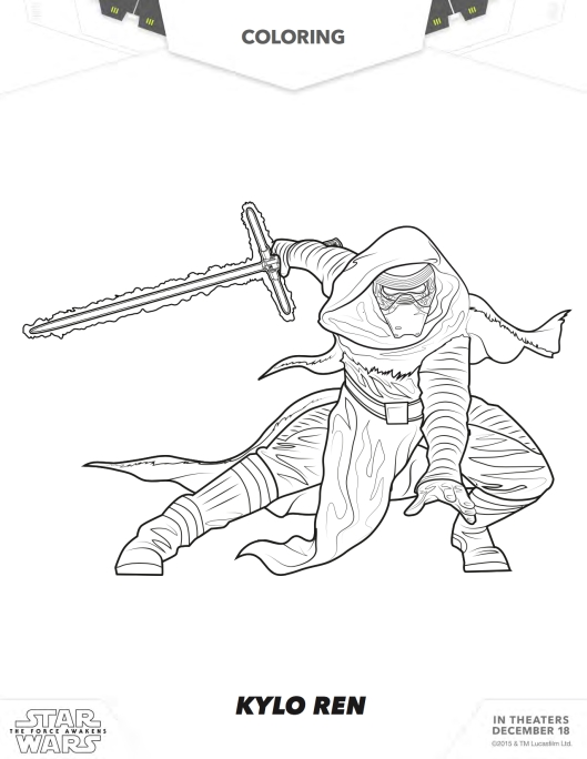Star Wars coloring page Kylo Ren