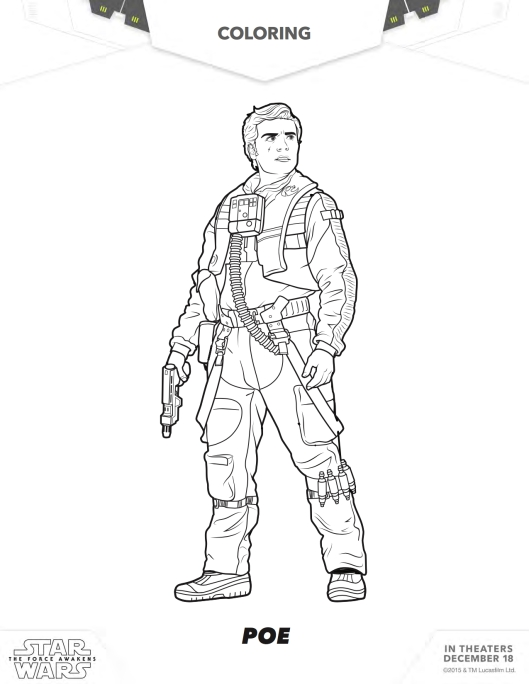 Star Wars coloring page Poe