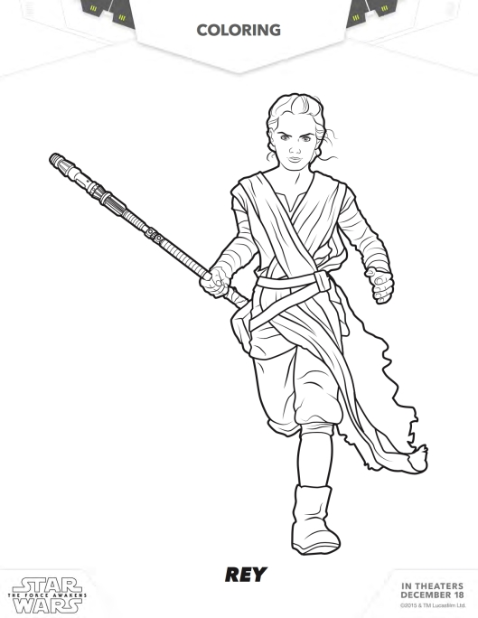 star wars coloring page Rey