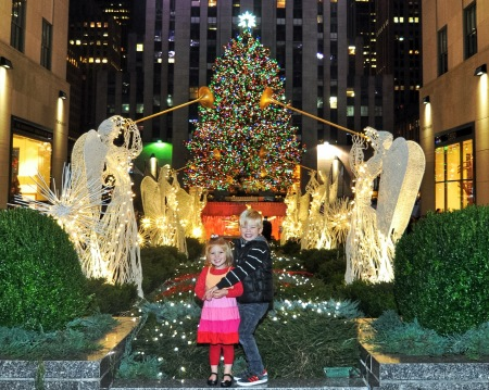 The Kids at Rockefeller Christmas Tree 2015