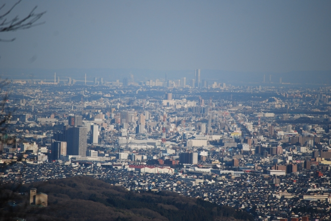 View of Tokyo from mt takao