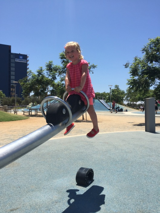 Seesaw at San Diego Waterfront park
