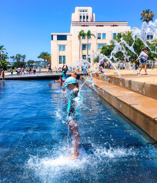 Water feature at San Diego Waterfront Park