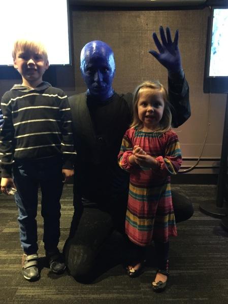 Meeting Blue Man Group