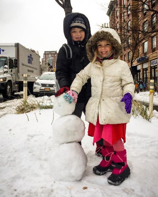 City Snowman