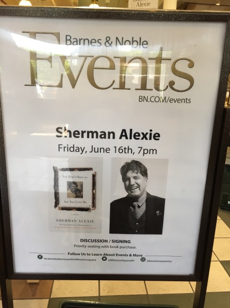 Sherman Alexie Barnes and Noble
