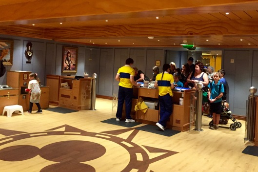 Disney Wonder Oceaneers Club Check in
